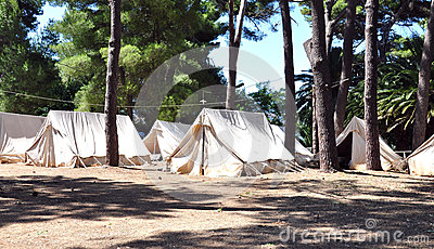 Old tent camp