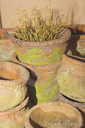 Free Old Terracotta Pots Stock Images - 3875214