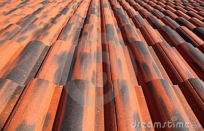Old terracotta tile roof