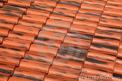 Old Terracotta Tile Roof Stock Images - Image: 17887454