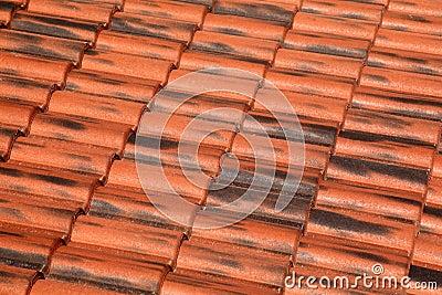 Old terracotta tile roof