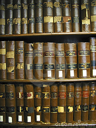 Old Texas Law Books Stock Photo