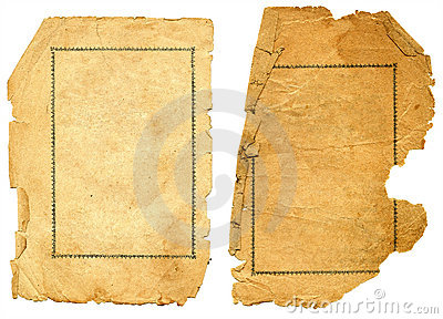 Old textured paper with decrepit edge.