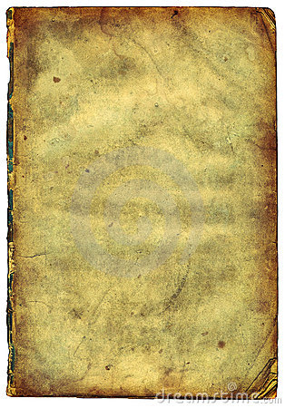 Old textured paper with decrepit edge (scan).