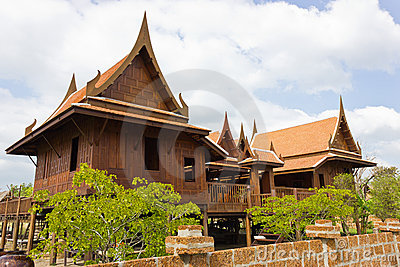 Old thai house stock photos image 22592233 for Thai classic house 2