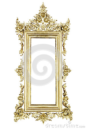Old Thai style  frame pattern
