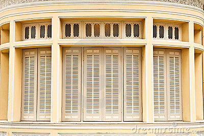 Old Thai style windows
