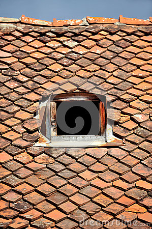 Free Old Tile Roof Royalty Free Stock Image - 45153936