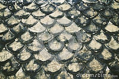 Old tile roof