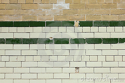 Old Tiled Brick Wall Background