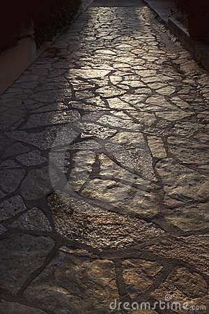 Old tiled pathway
