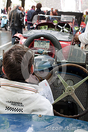 Old time cars at Mille Miglia 2013 Editorial Image