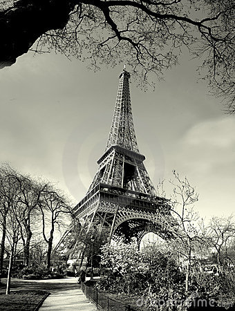 Picture  Eiffel Tower on Royalty Free Stock Photos  Old Time Eiffel Tower View  Image  2074708
