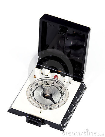 Old time GPS-russian tourist compass closeup