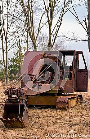 Old Time Heavy Equipment Mining Shovel