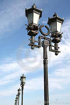 Free Old-time Moscow Street Lamps Stock Images - 2820124