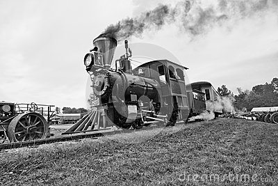 Old Time Vintage Steam Train Locomotive