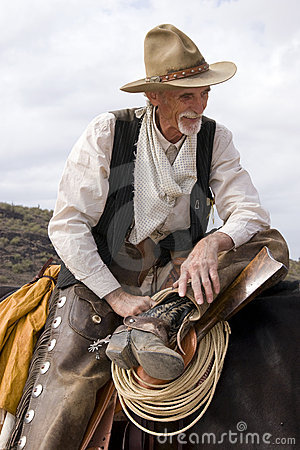 Free Old Timer Western Cowboy Roper Royalty Free Stock Photography - 11966447