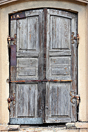 Free Old Timeworn Doors. Royalty Free Stock Photos - 21247598