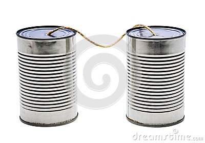 Old tin can phones