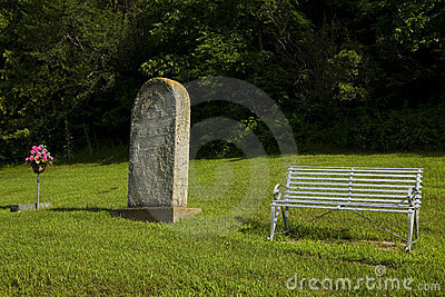 Old Tombstone & Bench