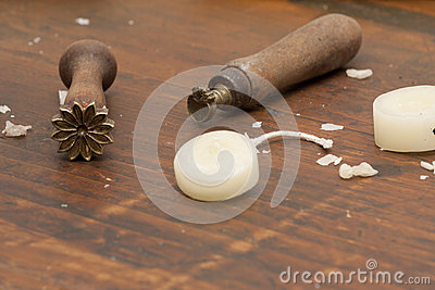 Old tools for wax