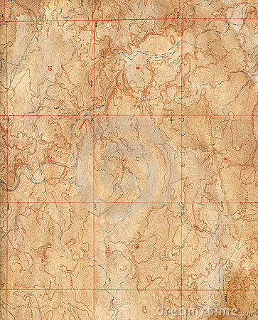 Free Old Topographical Map (Expedition Background ) Stock Image - 12555761