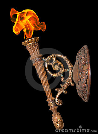 Free Old Torch On Black Stock Photography - 13736302