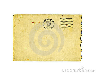 Old torn envelope with 1941 postal stamp