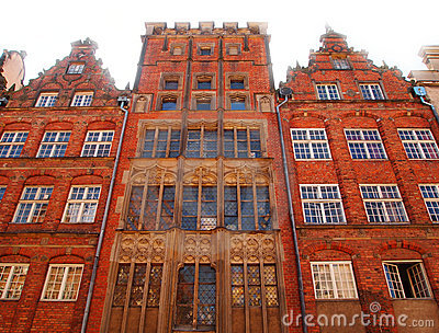 Old town buildings in Gdansk, Poland