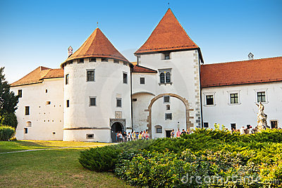 Old Town castle in Varazdin Editorial Stock Photo