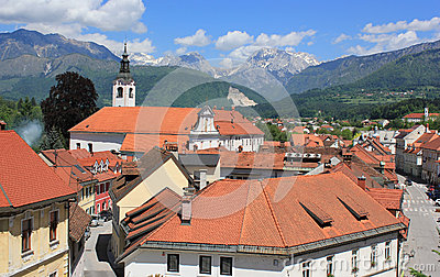 Old town center of Kamnik, Slovenia