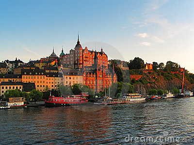 Old Town cityscape in Stockholm, Sweden
