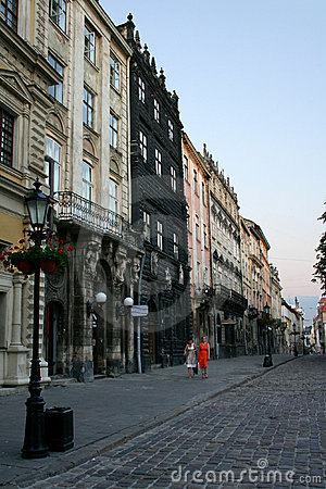 Old town in evening
