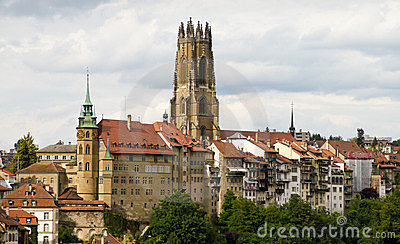 Old Town Of Fribourg, Switzerland Stock Photos - Image: 23443473