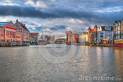 Old town of Gdansk at sunrise