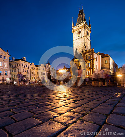 Free Old Town Hall In Prague At Night Stock Image - 33235781