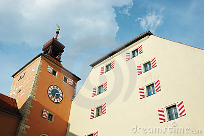 Old town hall of Regensburg,Germany,Bavaria