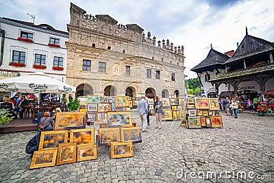 Old town of Kazimierz Dolny in Poland Editorial Photo