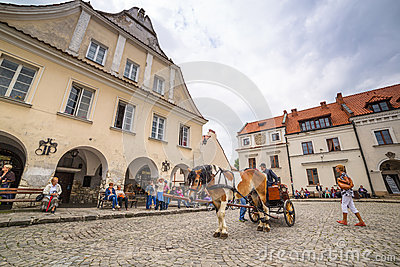 Old town of Kazimierz Dolny in Poland Editorial Stock Image