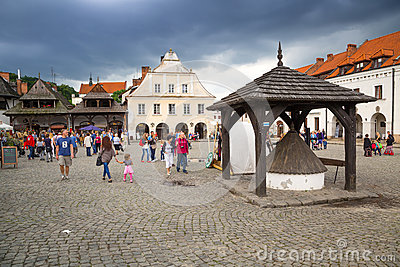 Old town of Kazimierz Dolny in Poland Editorial Photo
