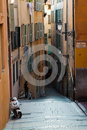 Old town Nice Editorial Stock Photo