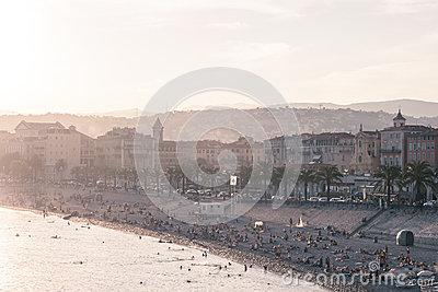 Old town of Nice, France Editorial Photo