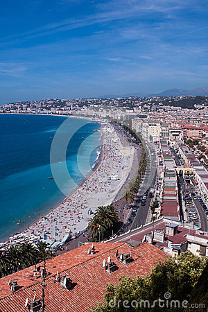 Old town of Nice, France