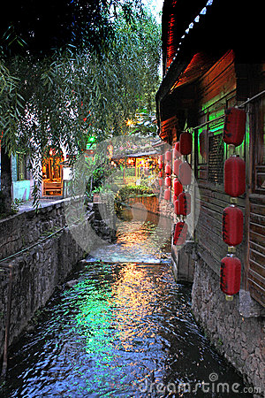 Free Old Town Of Lijiang Royalty Free Stock Image - 43043306