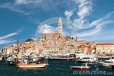 The old town Rovinj and marina