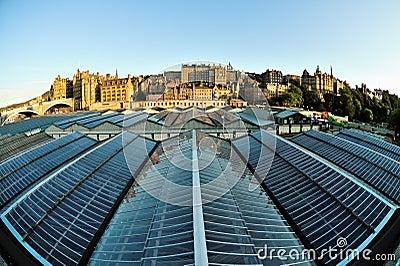 Old Town skyline, Edinburgh, Scotland, UK