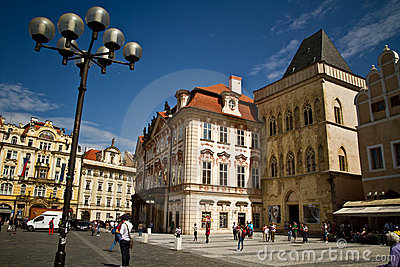 Old Town Square Editorial Stock Image