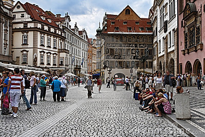 Old town square in Prague Editorial Image