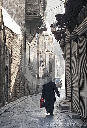 Street in aleppo syria Editorial Stock Photo
